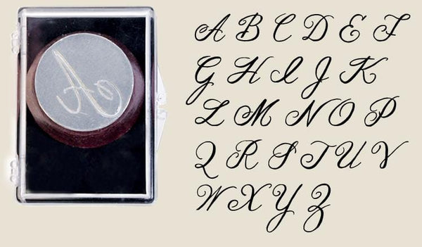 Recycled Glass Alphabet Seals