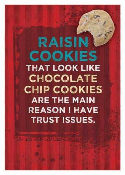 Raisin Cookies Birthday Card