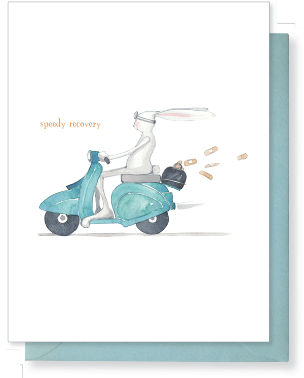Speedy Recovery (Bunny on Motorcycle)