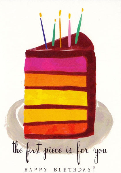 The First Piece Birthday Card
