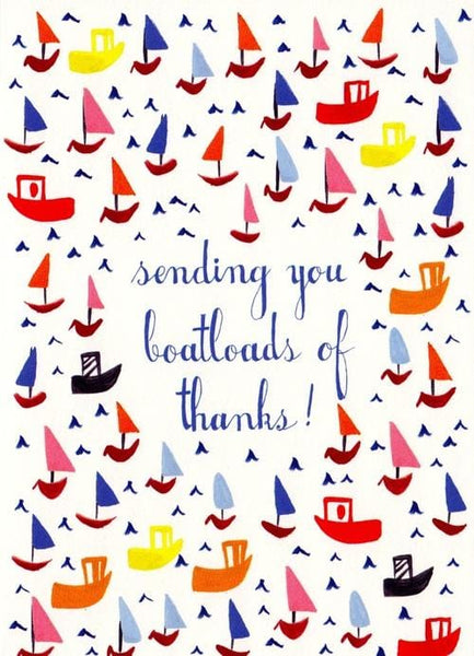 Boatloads of Thanks Thank You Card