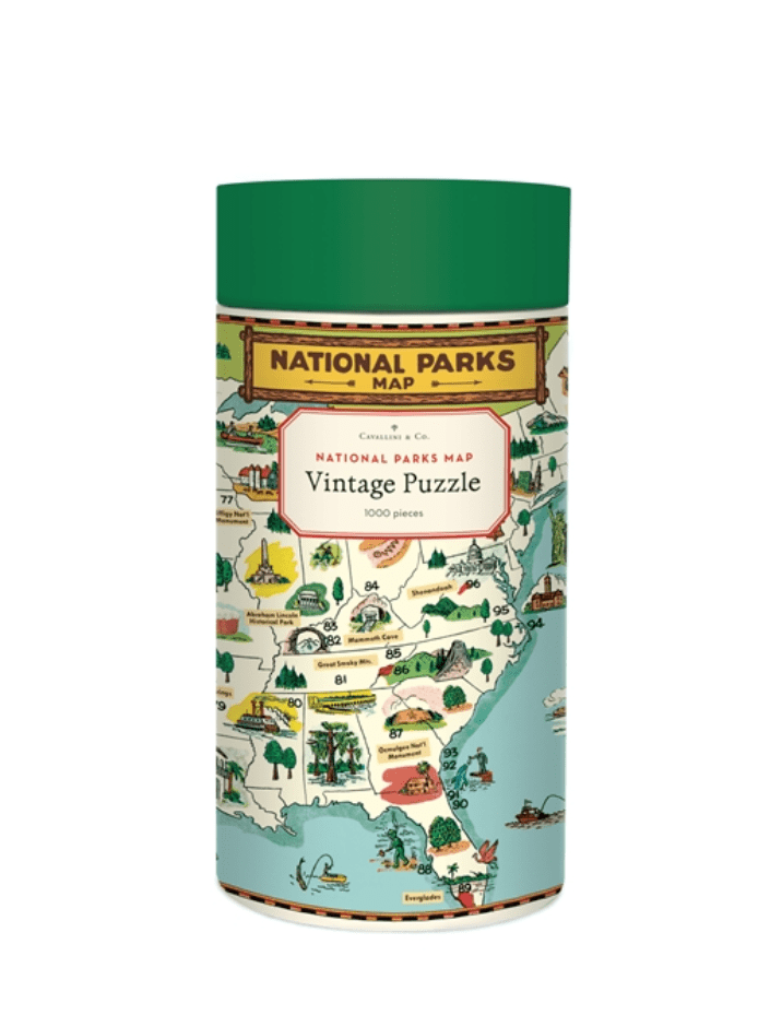 Cavallini & Co National Parks Map 1000 Piece Puzzle