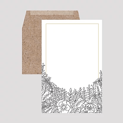 Coloring Botanicals Letter Writing Set
