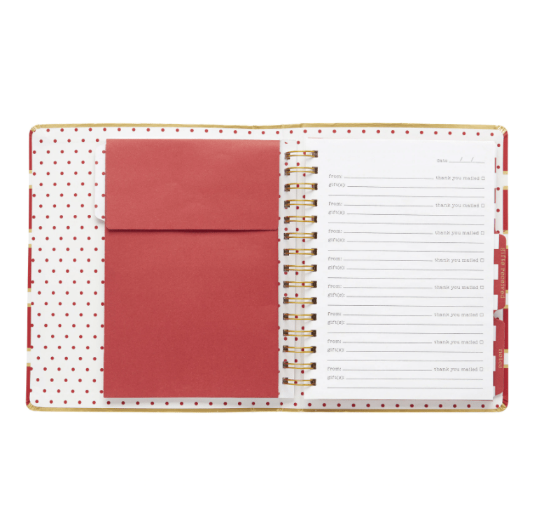 Gift Log W/ Pen - Red Stripe