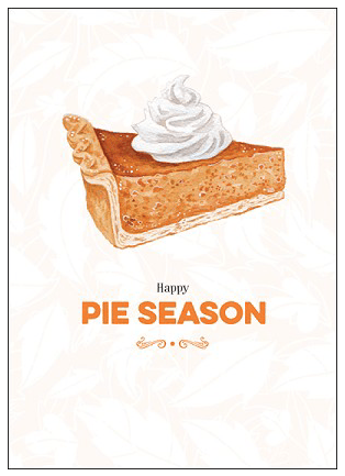 Pie Season Card
