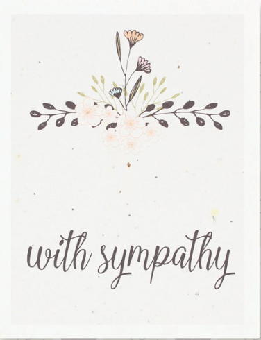 With Sympathy (blank greeting card)