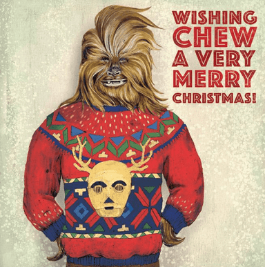 Wishing Chew a Merry Christmas Greeting Card