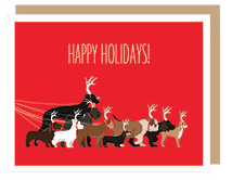 Holiday Dog Walk Boxed Card Set