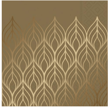 Luxe Gold Beverage Napkin