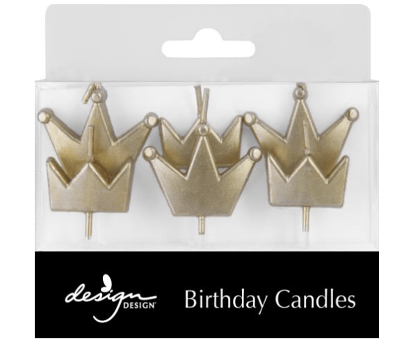 Gold Crown Birthday Candles