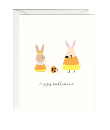 Bunny and Candy Corn Card