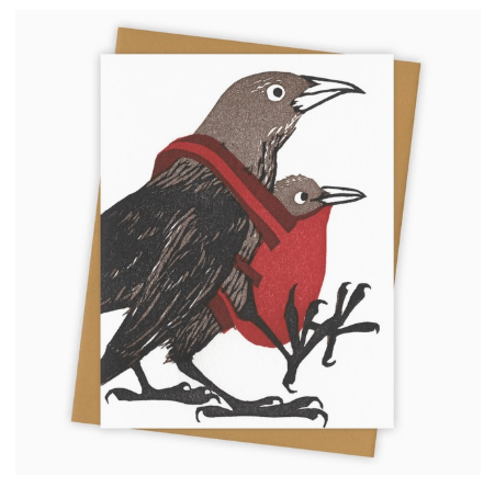 Babywearing Grackle Card