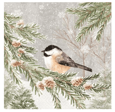 Peaceful Chickadee Luncheon Napkins