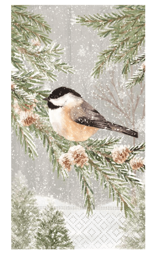 Peaceful Chickadee Guest Napkins