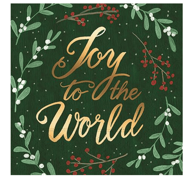 Joy To The World Beverage Napkins