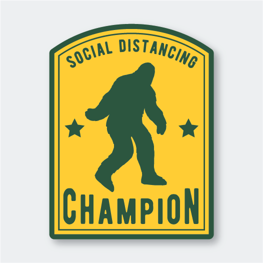 Social Distancing Champion Sticker