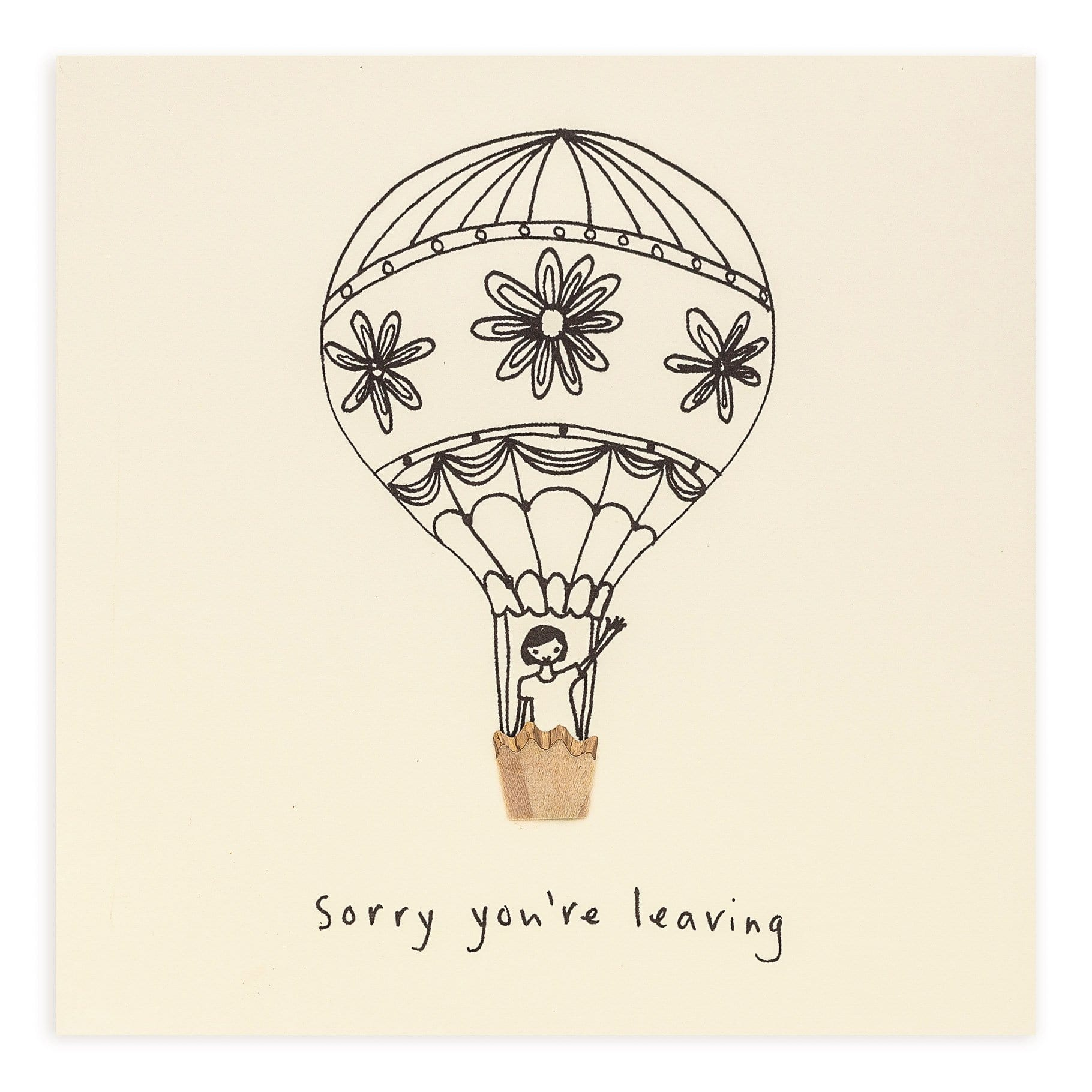 Sorry You're Leaving Pencil Shavings Card
