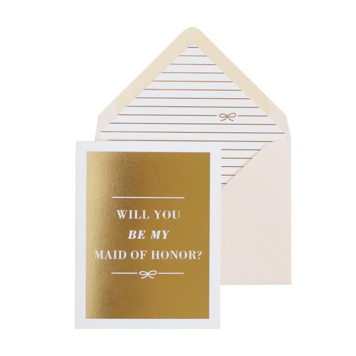 Will you be my maid of honor card vellum