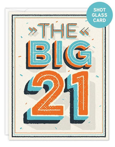The Big 21 Shot Glass Bottle Hanger Card