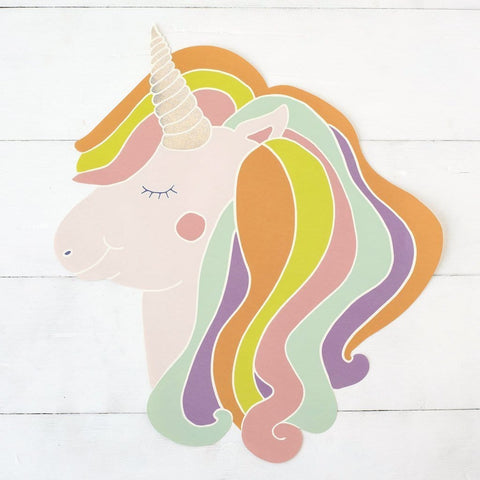 Die-Cut Unicorn Placemat