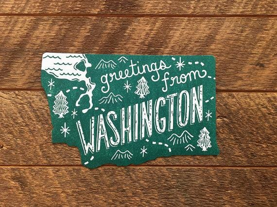 Washington Postcard, Greetings from Washington