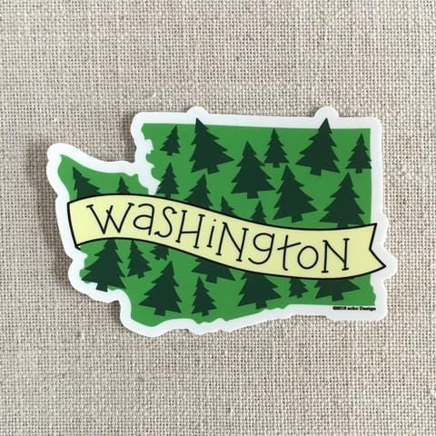 Washington State Trees Vinyl Sticker