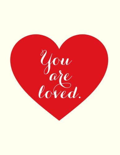 You are Loved Heart Card