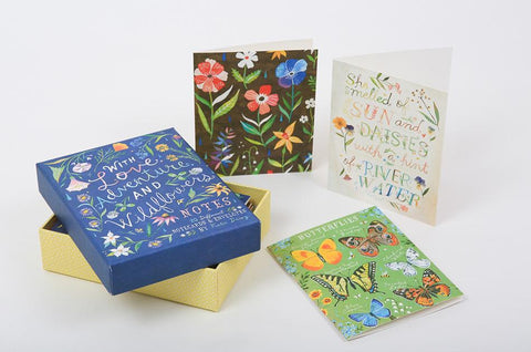 With Love Adventure & Wildflowers Notecard Set