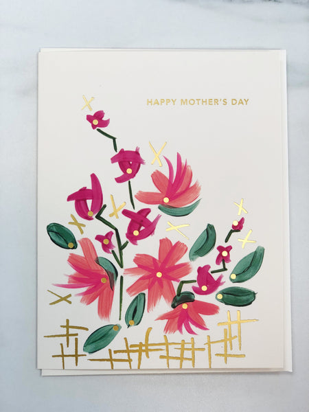 Painted Flowers Mother's Day Card