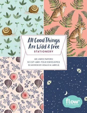All Good Things Are Wild and Free Stationery Set