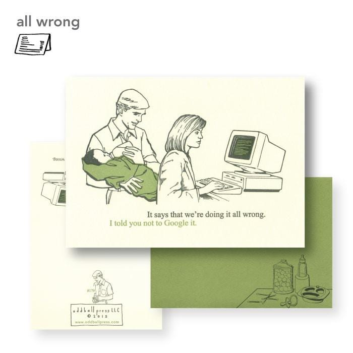 All Wrong Google Baby Card