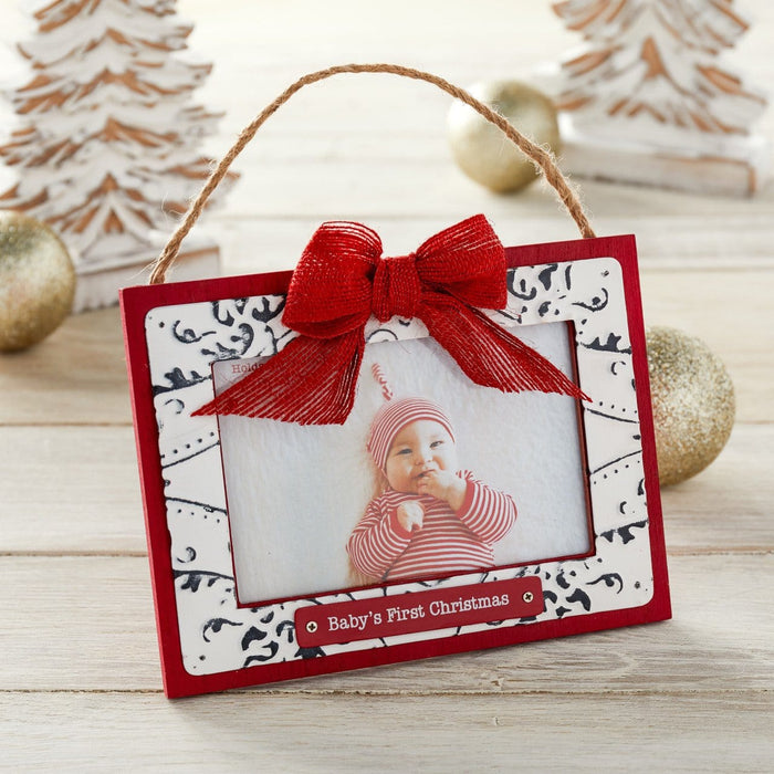Baby's First Christmas Ceiling Tin Frame Ornament