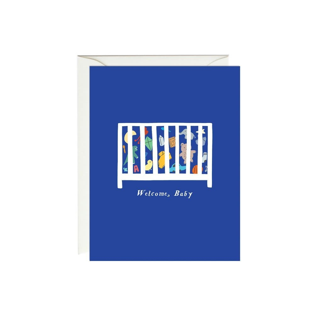 Baby Toy Crib Card