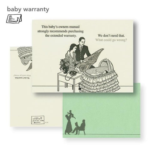 Extended Warranty Baby Card