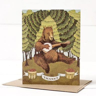 Bear Banjo Thanks Card