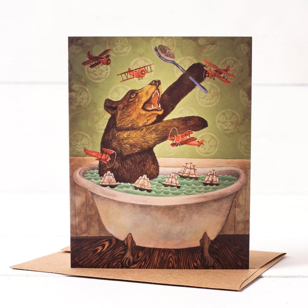 Bathtub Bear Card