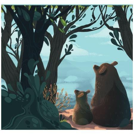 Father Bear Father's Day Pop-Up Card
