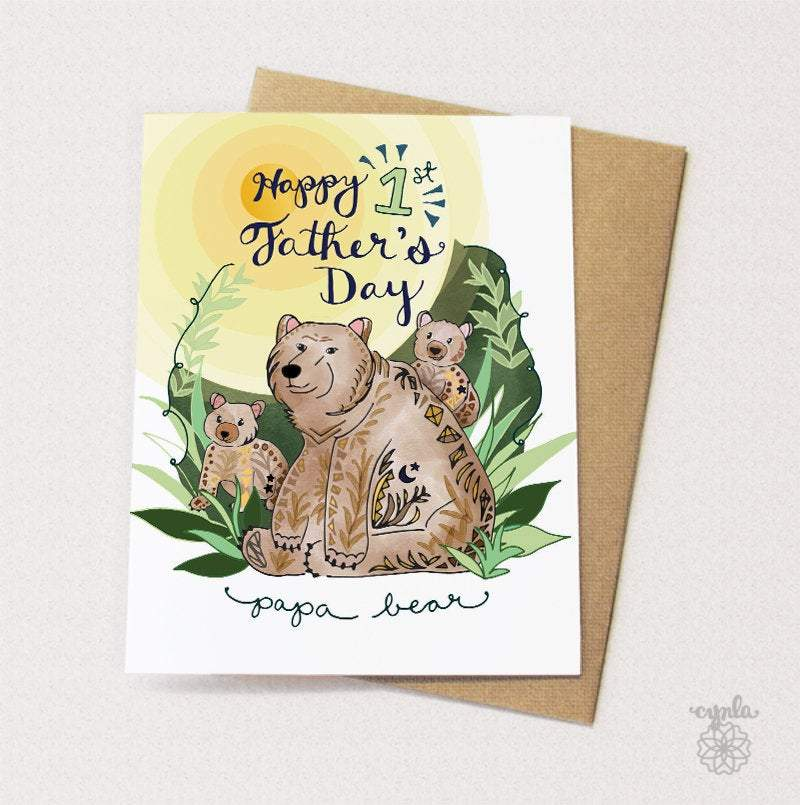 Bear First Father's Day Card