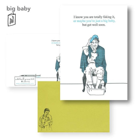 Big Baby Get Well Soon Card