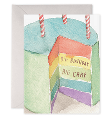 Big Birthday Big Cake Card