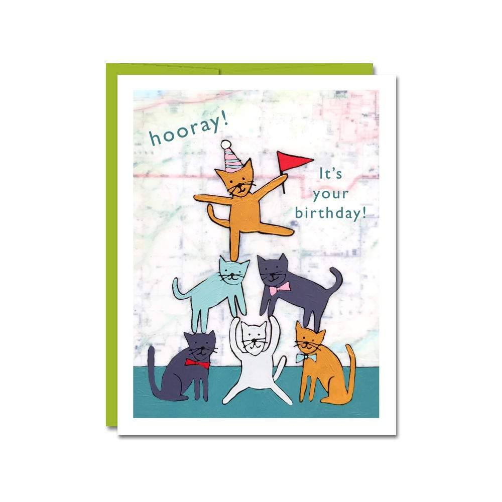 Birthday Cats Notecard