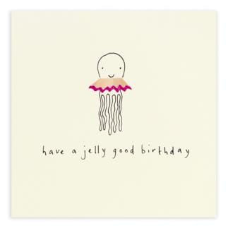 Birthday Jellyfish Pencil Shavings Card