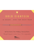 Birthday Milestone Bracelet - Bold Eighteen