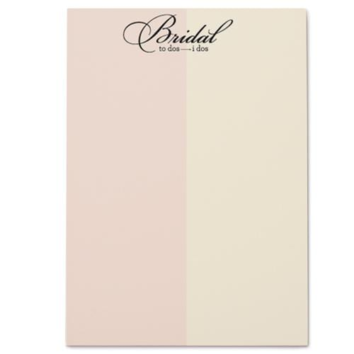Bridal To-Do's Notepad