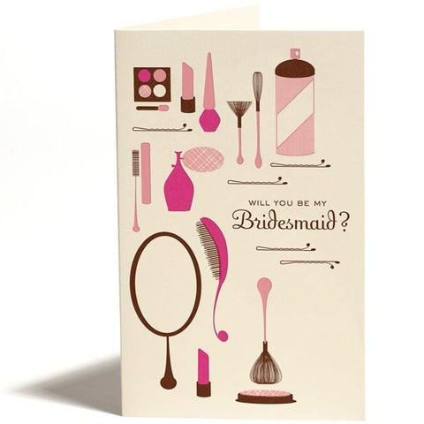 Will You Be My Bridesmaid Makeup Card