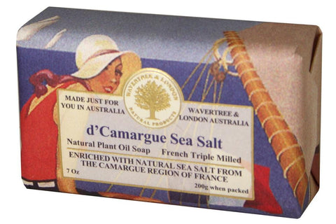 Wavertree & London Bar Soap 7oz - d'Camargue Sea Salt