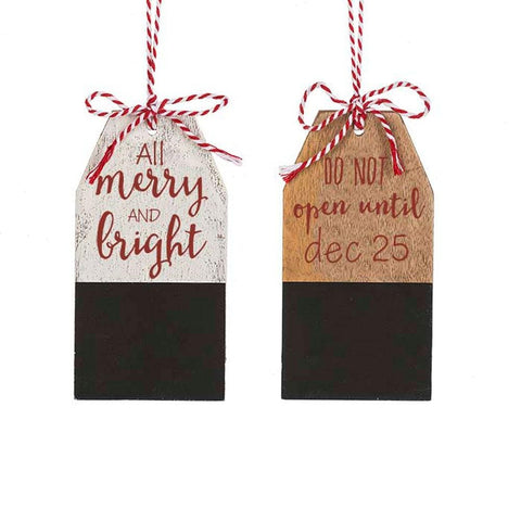 Chalk Board Tag Ornament