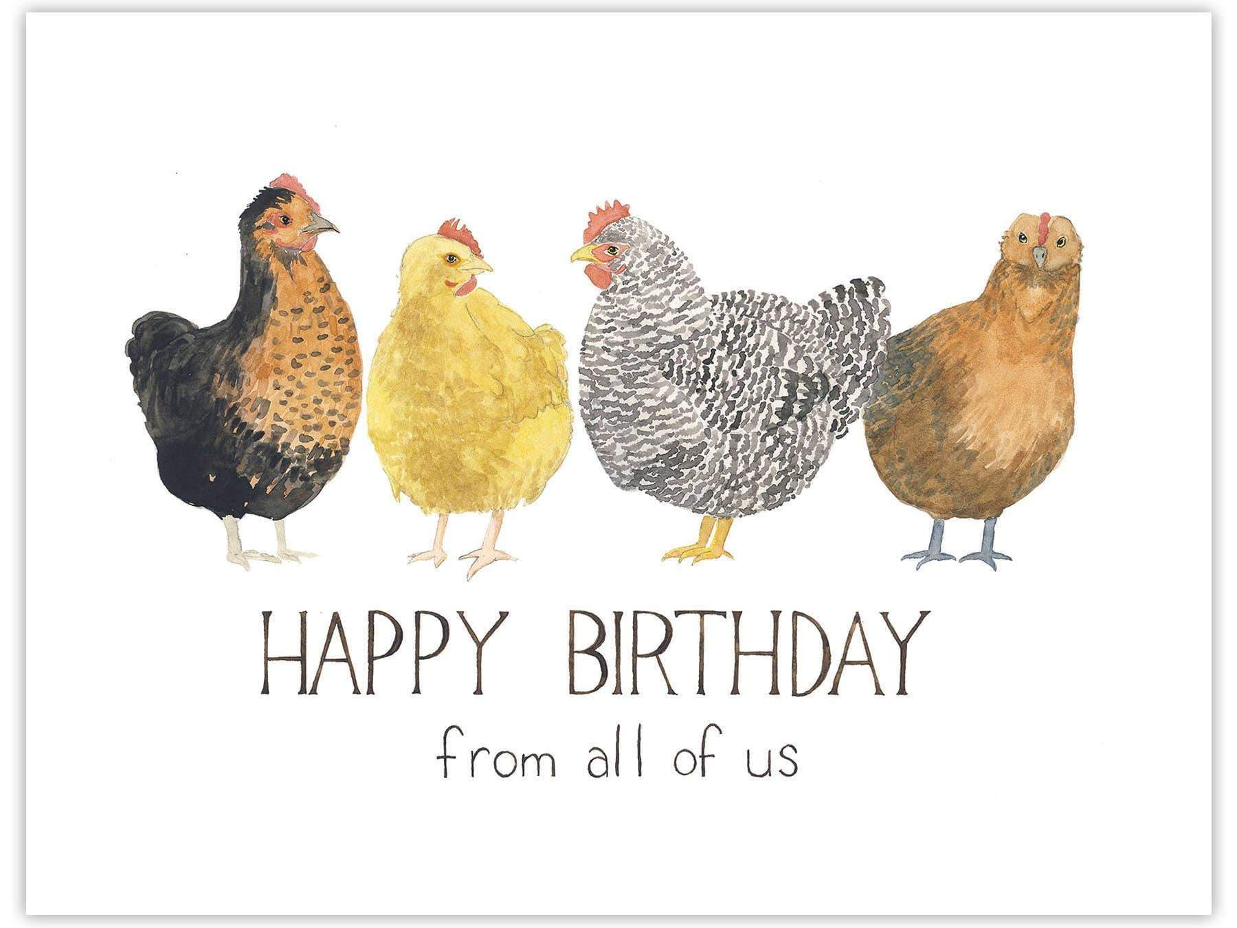 Chickens Birthday Card