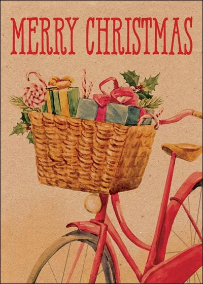 Christmas Bicycle Card