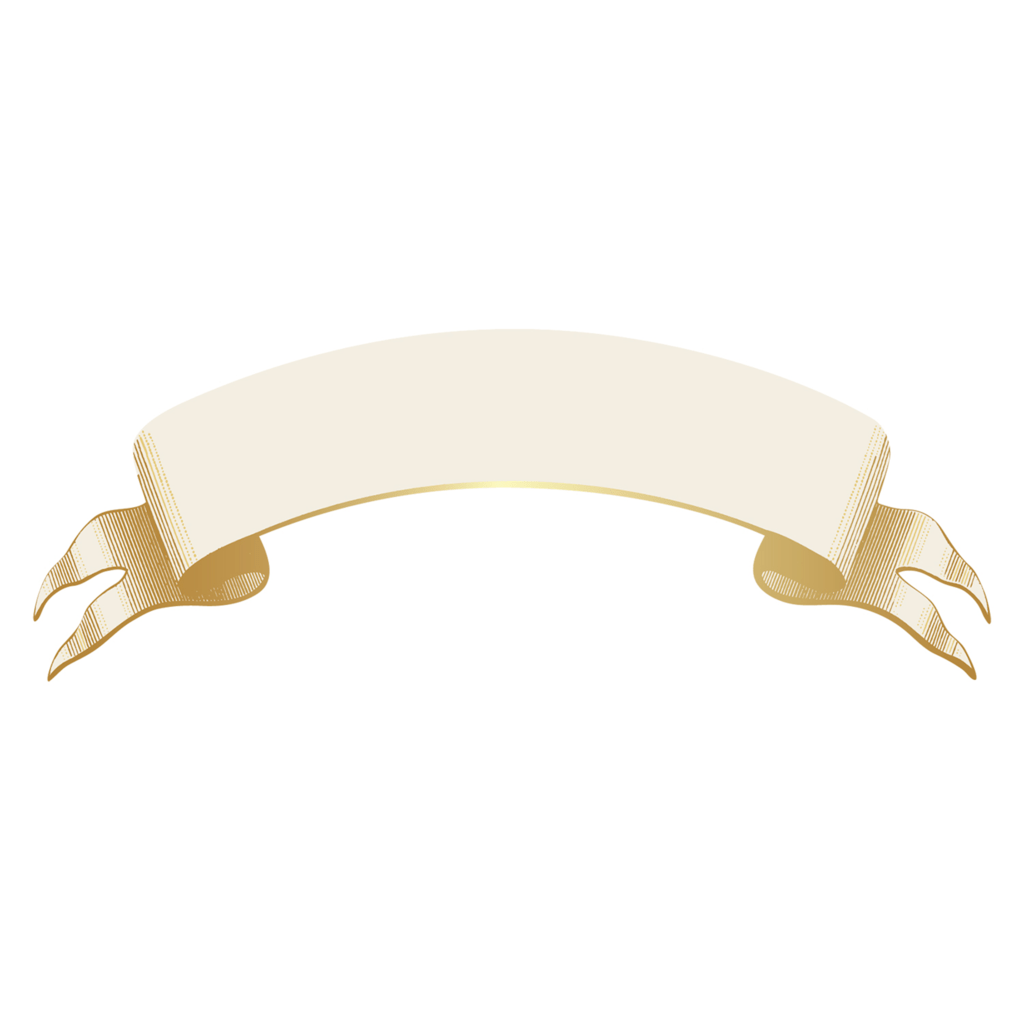 Classic Gold Banner Table Accent - Set of 12